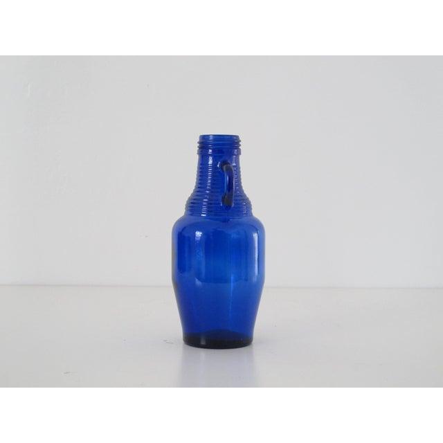 Cobalt Blue Bottle with Handles - Image 3 of 5