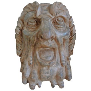1920s French Baroque Grotesque Terra Cotta Bust Sculpture For Sale