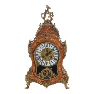 1900s Antique Rococo Mantel Clock For Sale