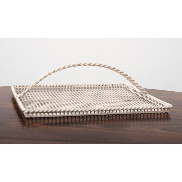 Mathieu Matégot Mathieu Mategot Serving Tray in Enameled Perforated Metal, France 1950s For Sale - Image 4 of 4