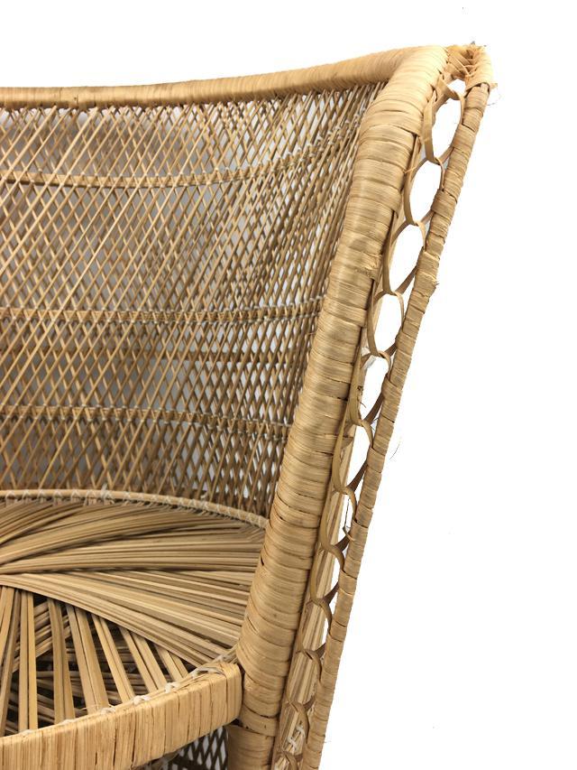 Vintage Rattan Boho Barrel Chair   Image 4 Of 4