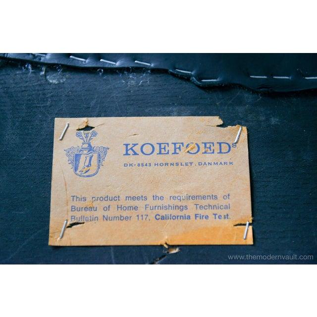 "1960s Vintage Koefoed of Denmark Walnut High Back ""Eva"" Dining Chairs - Set of 8 For Sale - Image 11 of 12"