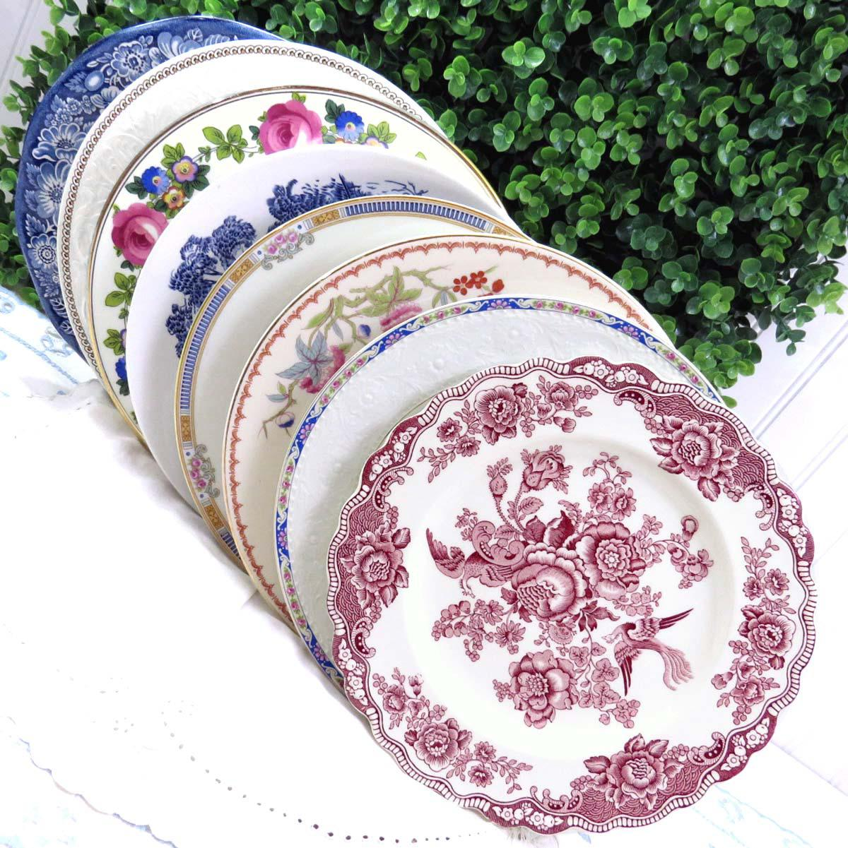 Vintage Mismatched Fine China Dinner Plates - Set of 8 - Image 11 of 12  sc 1 st  Chairish & Vintage Mismatched Fine China Dinner Plates - Set of 8 | Chairish