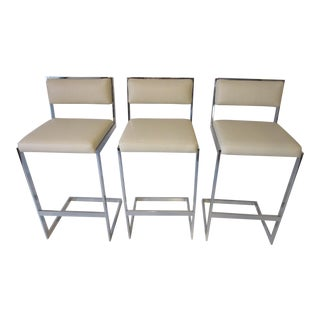 Milo Baughman Bar Stools For Sale
