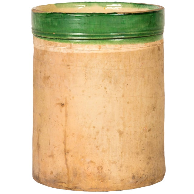 Green Banded Pot From Early 20th Century England For Sale