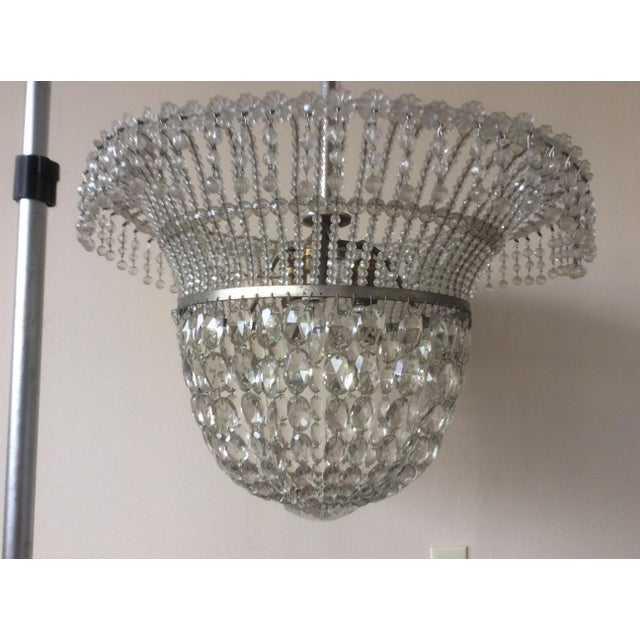 1920s 1920's Beaded Hanging Light For Sale - Image 5 of 6