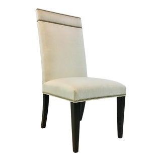 Hickory White Transitional Black and White Side Chair 901-62 For Sale