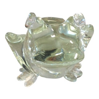 1990s Art Glass Frog For Sale