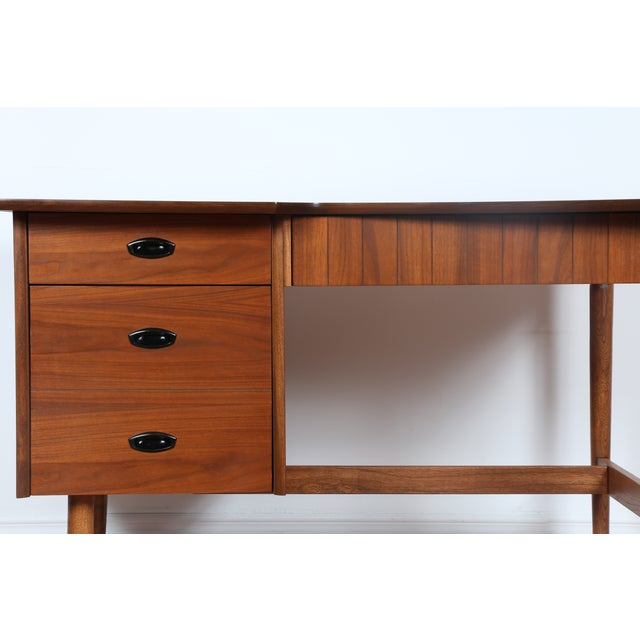 Hooker Mid-Century Walnut & Veneer Desk - Image 3 of 11