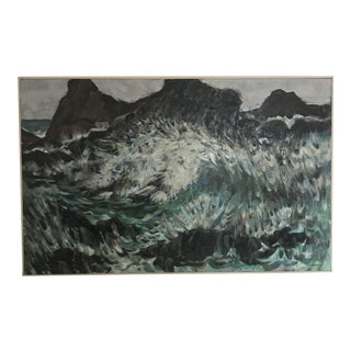 Impressionist Ocean Acrylic Painting For Sale