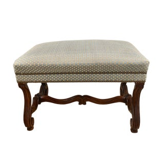 19th Century Vintage Baroque Style Walnut Stool For Sale