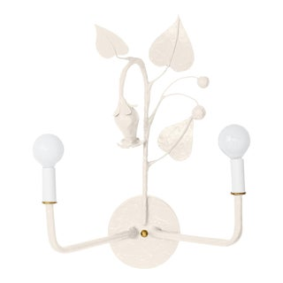 Stray Dog Designs for Chairish Efrain Sconce, White For Sale