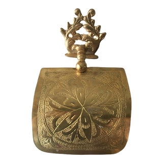 Vintage Brass Toilet Paper Holder For Sale
