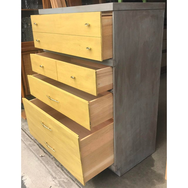 1960s 1960s Mid Century Modern Bassett Highboy Dresser For Sale - Image 5 of 11