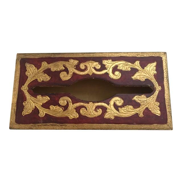 Vintage Italian Florentine Tissue Box - Image 1 of 5