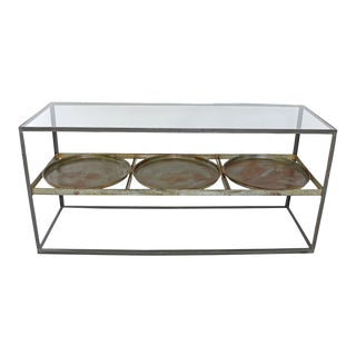 Round Trays Display Console Table For Sale