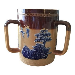 Mid 19th Century Royal Doulton Three Handle Loving Cup For Sale
