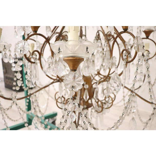 20th Century Louis XVI Style Gilded Bronze and Crystals Large Luxury Chandelier For Sale - Image 6 of 11