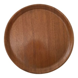 Vintage Large Akl Brickan Konga Mid-Century Modern Plywood Round Tray, Sweden For Sale