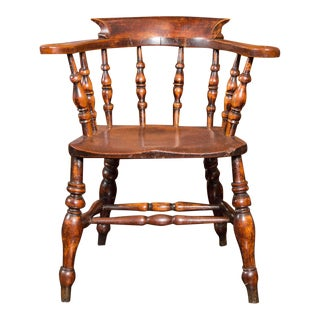 Set of 6 English Captain's Chairs, circa 1860 For Sale
