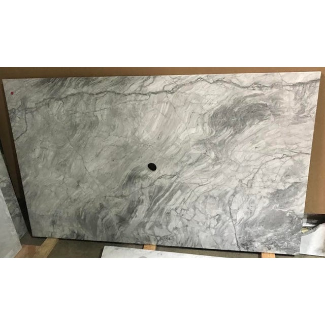White Custom Carrera Marble Island or Counter Top For Sale - Image 8 of 9