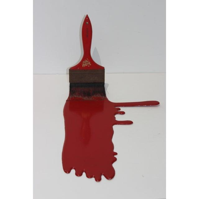 Pop Art Vintage Geoffrey Rose Frozen Moments Pop Art Sculpture of a Paint Brush For Sale - Image 3 of 13