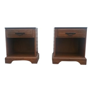 A. Brandt Ranch Oak Nightstands - a Pair For Sale