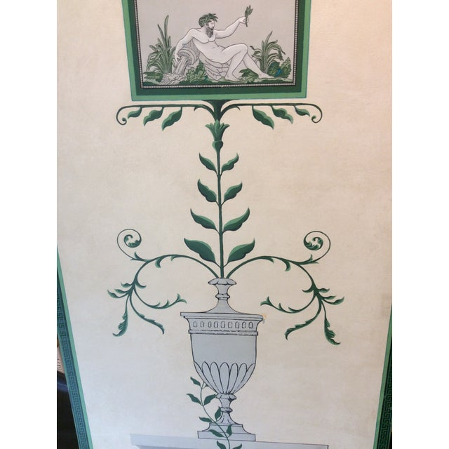 Hand-Painted and Decoupaged Garden Screens With Urn Motif - A Pair For Sale In Portland, ME - Image 6 of 13