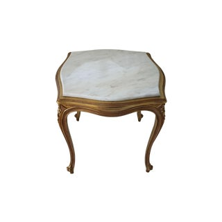 French Style Gilt & Marble Side Table