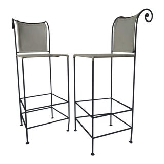 Pair of Sculpted Shaver Howard Midcentury Stools For Sale