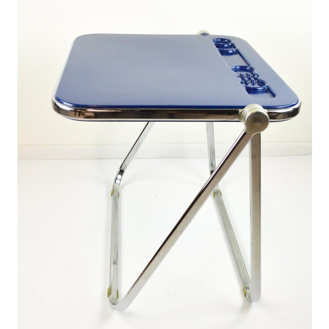 "Giancarlo Piretti ""Platone"" Desk by Castelli - Blue - 1970's For Sale - Image 5 of 8"