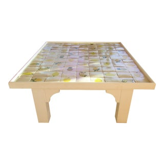 Custom Made Mario Genovesi Tile Top Table For Sale