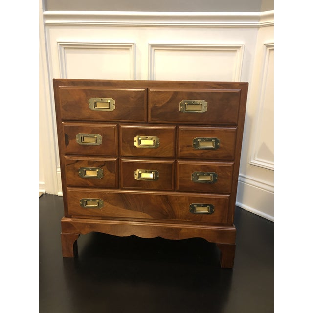 Italian Campaign Style Chest of Drawers For Sale - Image 10 of 12