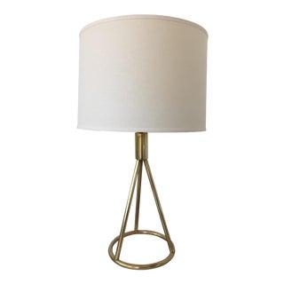 Modernist Brass Table Lamp