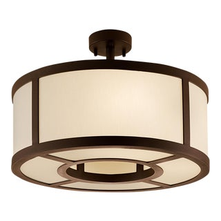 Art Deco Ailsa Bronze Pendant Light - 17.7""