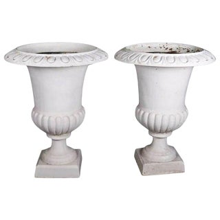 Pair of Oversized Garden Urns, 20th Century For Sale