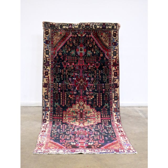 """Midnight in the Garden Persian Rug - 4'7"""" x 10'8"""" - Image 3 of 7"""