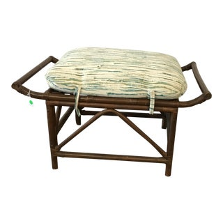 Vintage Bamboo Ottoman
