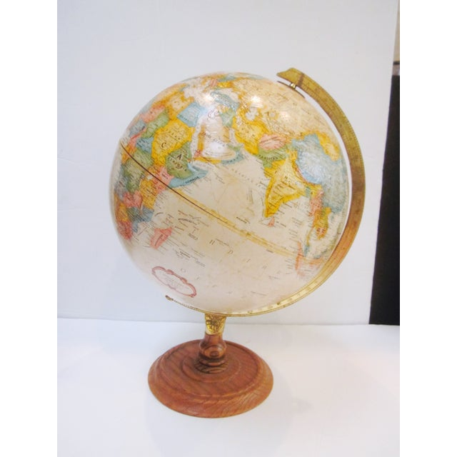 Vintage Old Fashioned Globe on Wood Base - Image 2 of 7