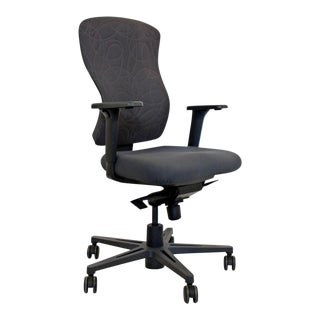 Sguig Syncro Keilhauer Mid Century Modern High Back Swivel Rolling Office Chair