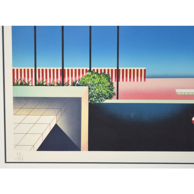 """Vintage 1980's """"Mezzanine"""" Limited Edition Architectural Lithograph by Teddy Radko For Sale - Image 4 of 8"""