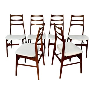 Danish Mid Century Modern Rosewood Dining Chairs, Set of 6 For Sale