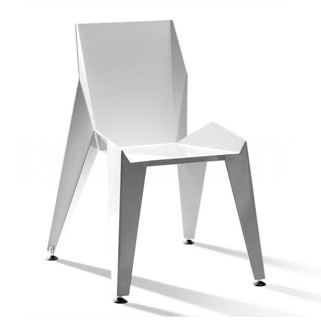 Origami Inspired Edge White Chair | Indoor & Outdoor Chair For Sale - Image 9 of 9