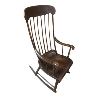 Early 19th Century Vintage Boston Rocker For Sale