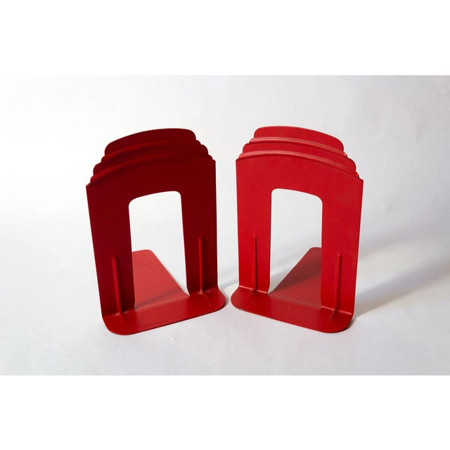 Vintage Red Library Bookends - a Pair For Sale - Image 9 of 9