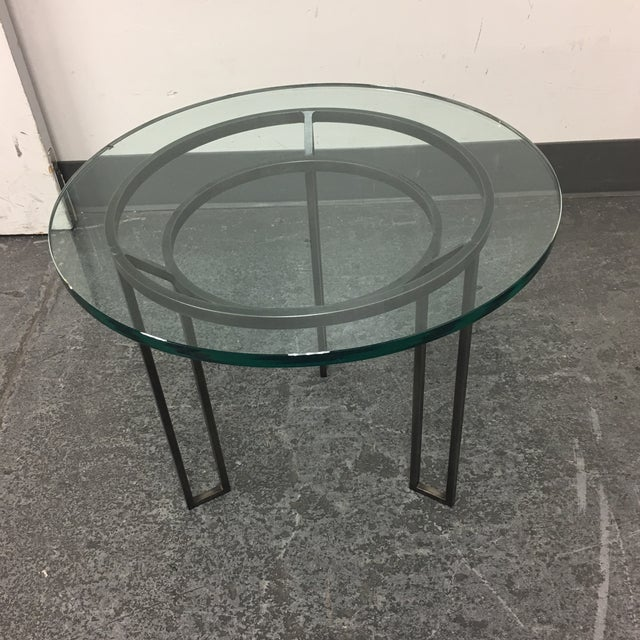 Iron Based Glass Top Side Table - Image 4 of 8