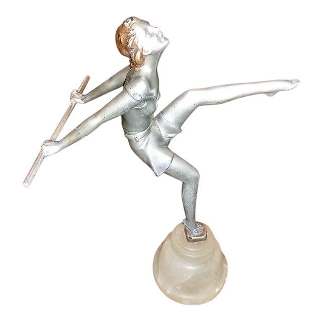 Art Deco Figurine of Dancing Girl For Sale