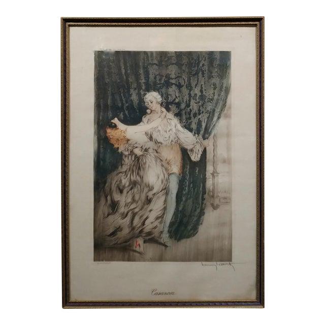 Louis Icart -Casanova - Original 1920s Lithograph -Pencil Signed - Image 1 of 11