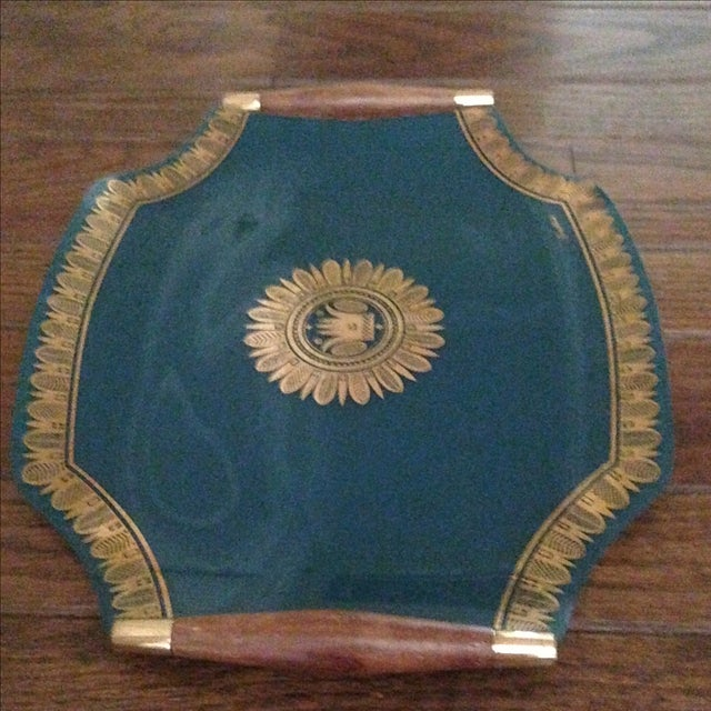 Vintage Georges Briard Glass Serving Tray For Sale In Indianapolis - Image 6 of 11