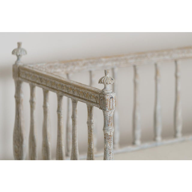 19th Century Swedish Gustavian Period Sofa Bench For Sale - Image 4 of 12